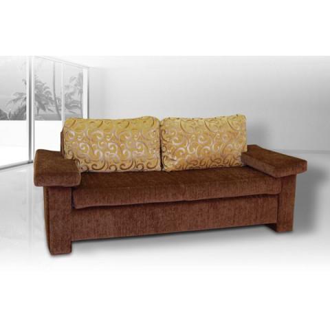 TIP Exkluzívna sedačka z poťahovej látky Vella, doplnená dekoračnými vankúšmi z modernej, žinilkovej látky TORONTO.